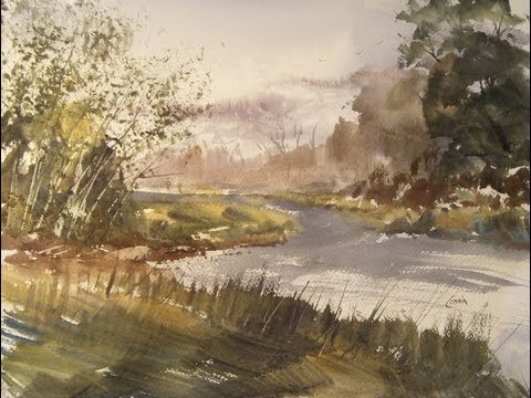 River Cole near Cooks Lane watercolour painting demo