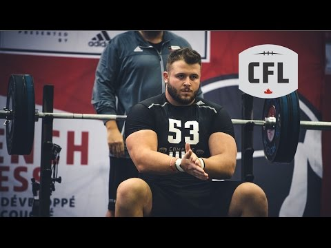 CFL Combine 2017: Bench Press Full Livestream