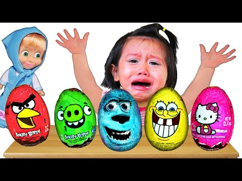 Bad Baby crying & learn Colors - Chocolate Surprise Eggs - Nursery Rhymes Song Collection
