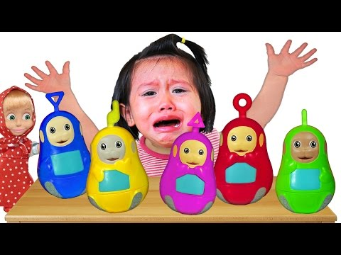 Bad Baby crying and Learn Colors with BIG Teletubbies Surprise Eggs - Colors Nursery Rhymes Song