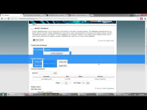 How to setup Wordpress in a CPanel Hosting Environment