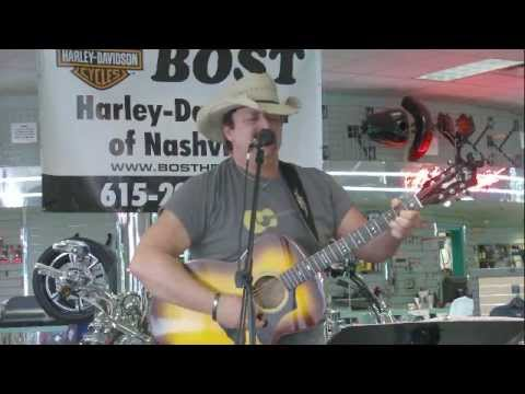 Brian Mac playing at Bost Harley Davidson for the NashvilleEar.com Songwriter Stage