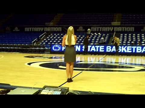 Kellie Lynne National Anthem Rehearsal at Penn State University