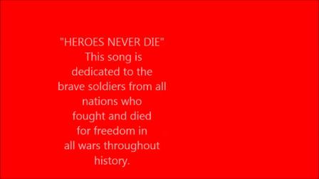 """""""HEROES NEVER DIE"""" (Frolick, Lambier)"""