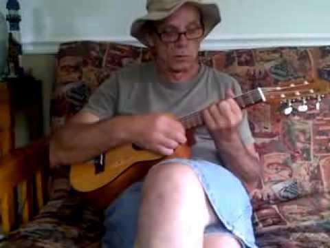 Reflecting with Guitalele ~ Bobby Pizazz at Mountain Island Pat's Beach House ~ Jazzacana