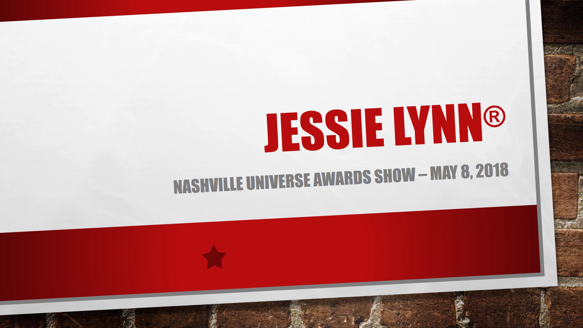 Jessie Lynn - Nashville Universe Awards