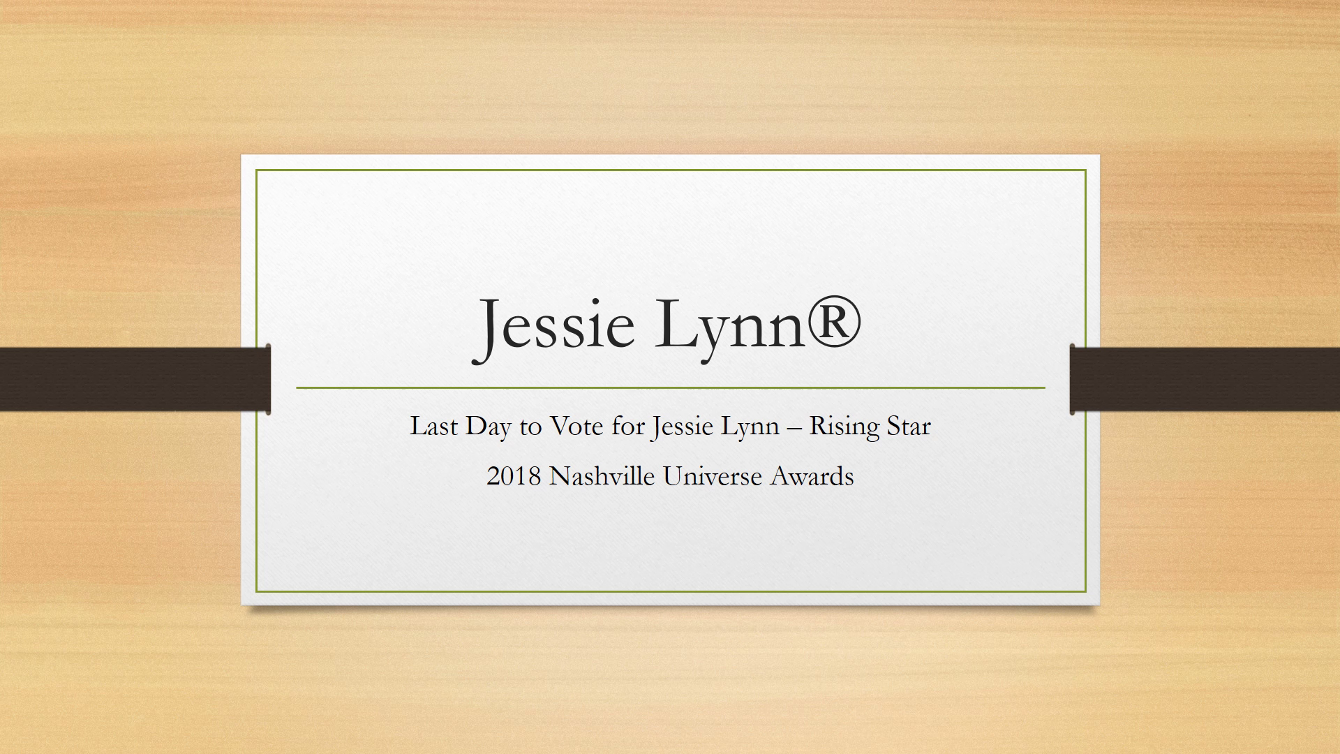 Jessie Lynn® - Thank You for Voting