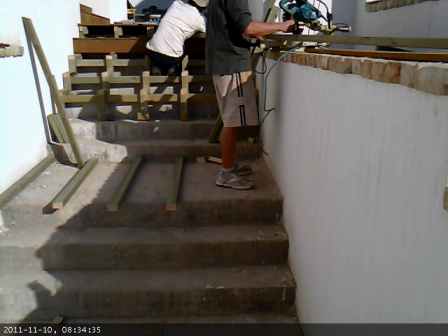 Ipe hardwood Stairs Time-lapse