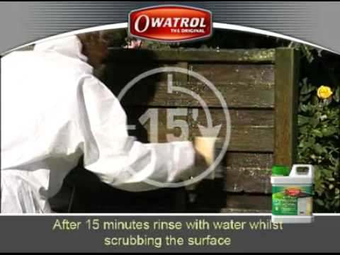 Owatrol Net-trol - The best way to restore weathered wood to its original colour