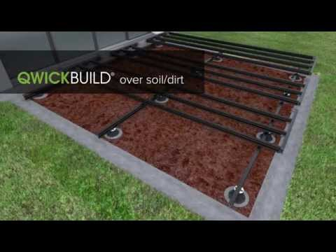 QWICKBUILD deck over soil/dirt