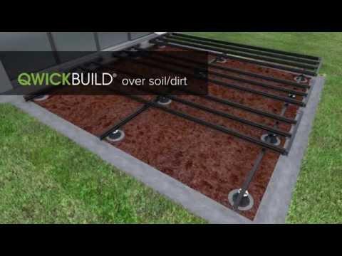QWICKBUILD deck over soil/dirt