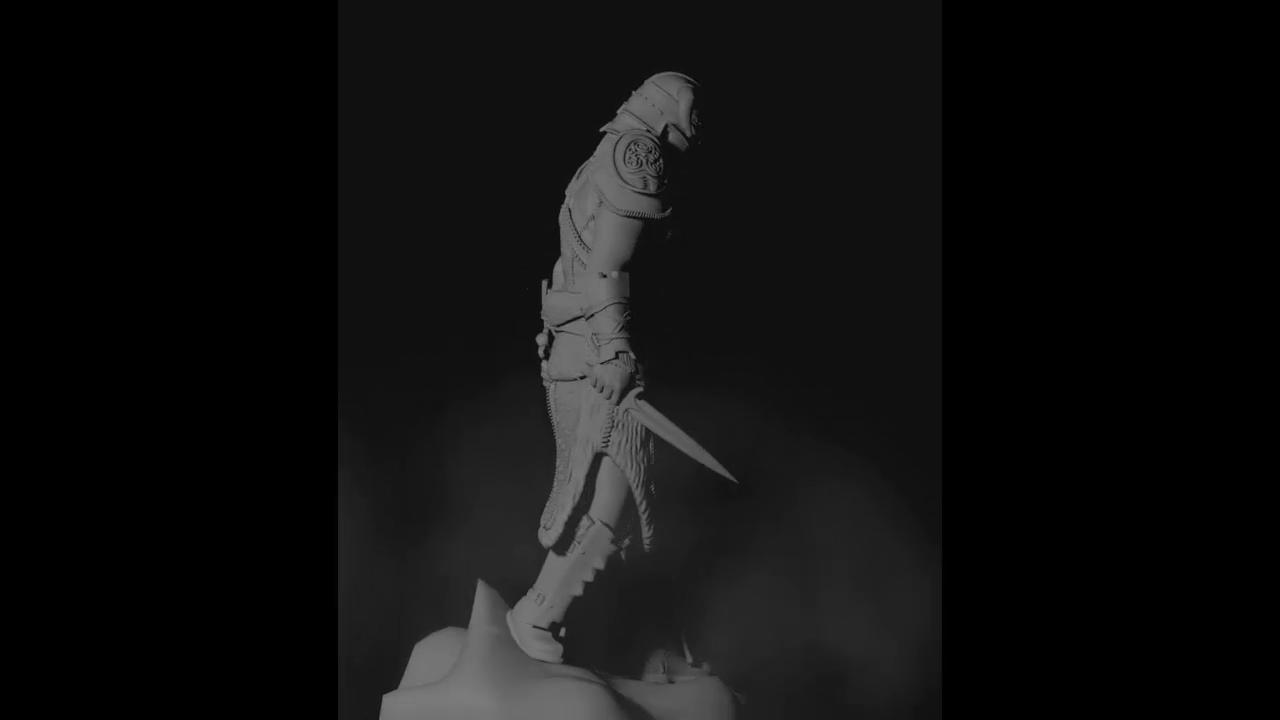 Dovahkiin (Dragonborn) figure from Skyrim 54mm scale