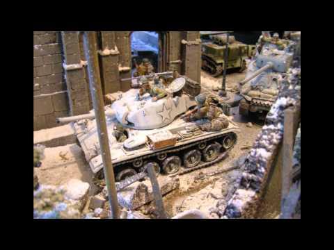Battle of Bulge, Ardennes, WWII, Bastogne, Toy Soldier Diorama