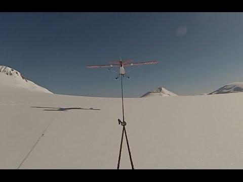 Towed Behind an Airplane on Skis