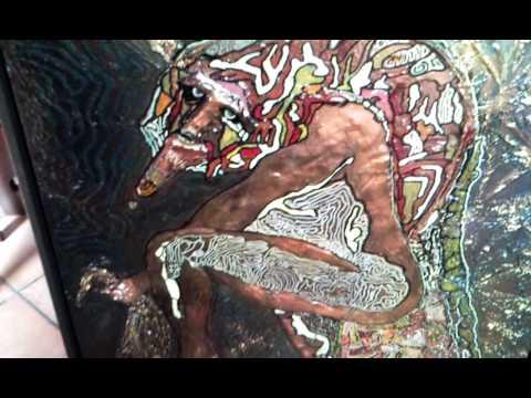 Tecnica basso rilievo su tela-The rilief canvas bas tecnique 浅浮雕技术,在画布上