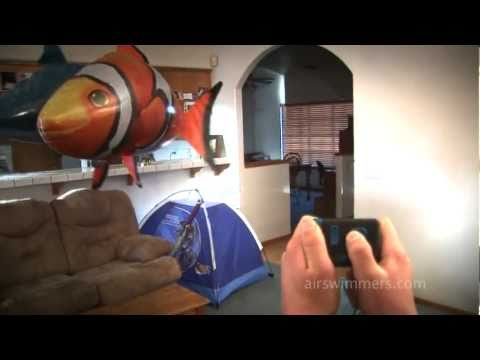 Air Swimmers - Awesome RC Flying Shark and Clownfish!