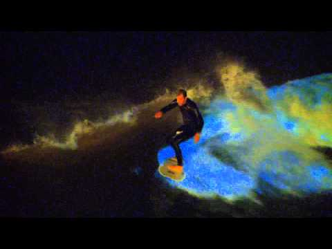 Surfing the Red Tide in San Diego Bioluminescent