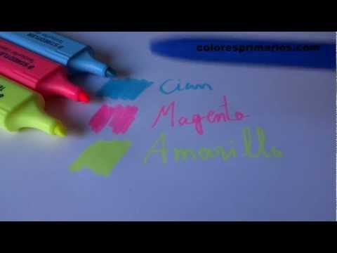 Los colores primarios no son el amarillo rojo y azul - Explicado con Fluorescentes