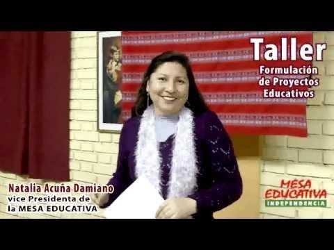 Natalia Acuña Damiano - Taller de Formulación de Proyectos