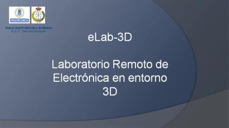 Laboratorio remoto basado en un mundo virtual 3D