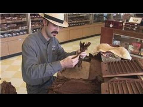 How Cigars are Made : Bunching Tobacco Leaves to Make a Cigar