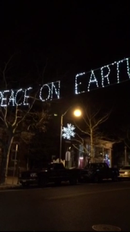Video of Washington Street decorated for Christmas 2014
