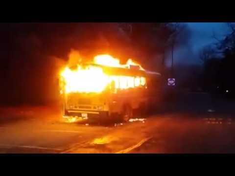 School Bus Fire in Toms River