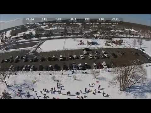 Sledding at Castle Park in Toms River NJ - DJI Phantom 2 Vision Plus