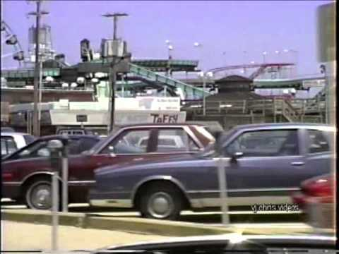 May 1990 - Driving Over the Bridge from Toms River to Seaside Heights, And Along the Ocean
