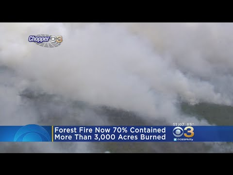 UPDATE: NJ Forest Fire Now 70& Contained