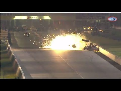 NHRA's Antron Brown Escapes Injury in Spectacular Crash