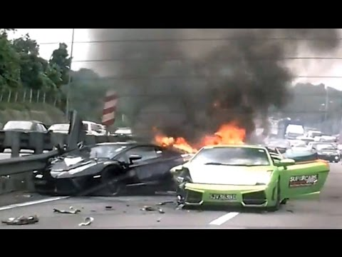 Insane Exotic Car Crashes *2015* April [NEW]