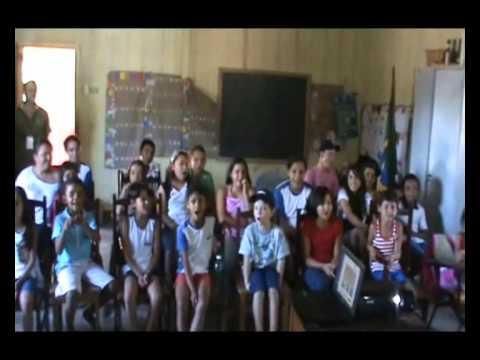 Exposição Oficina UHE Teles na Escola Municipal Getúlio Vargas I em Paranaíta/MT