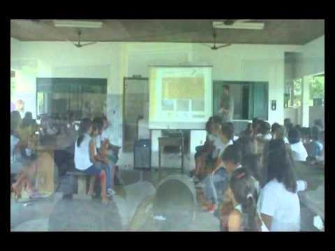 Exposição Oficina UHE Teles Pires na Escola Estadual João Paulo em Paranaíta/MT