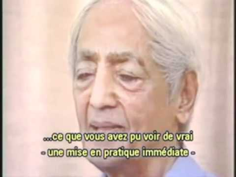 "Jiddu Krishnamurti  ""se libérer du conditionnement"""