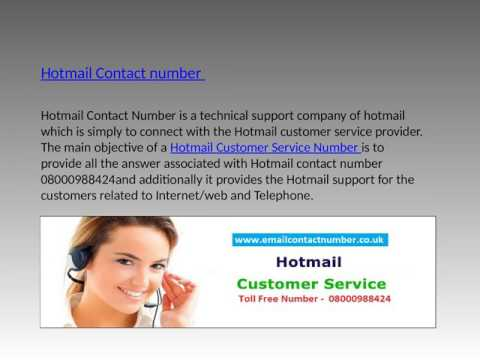 Get Guaranteed and Quick Help by Hotmail Contact  Number, Toll  Free 08000988424
