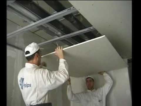 Montáž sadrokartónového stropu