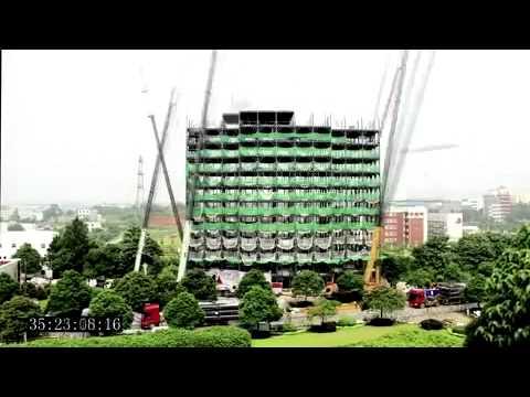 Výstavba hotelu - čínská efektivita 90 hodin