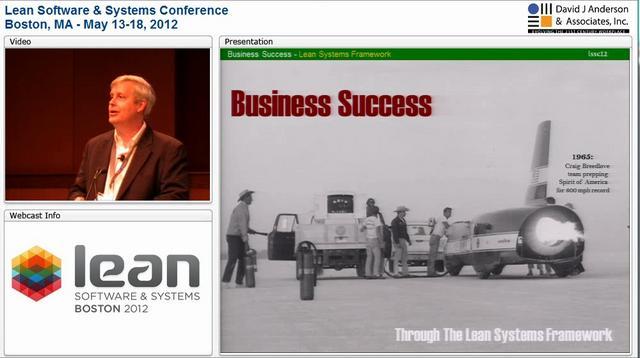 LSSC12: Business Success through the Lean Systems Framework - James Sutton