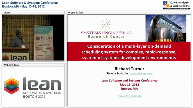 LSSC12: A multi-layer on-demand scheduling system for complex dev environments - Richard Turner