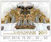 Pipe Organ Calendars Pipe Organ Calendar 2017, 18 …30 …50