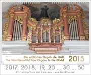 Pipe Organ Calendars Pipe Organ Calendar 2017, 18 …30 …50 (5)