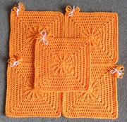 O is for Orange. 5 Squares