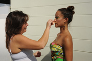 Make-up durning a hot day in Florida
