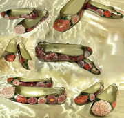peony tattoo painted shoes