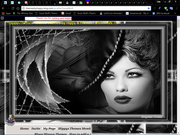 B&W VINTAGE LADY 2 NING THEME BY SNOW WOLF