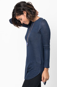 Shop for Navy Crew Neck Terry Long Sleeved Tunic New Colors on @caralase
