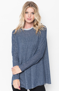 Shop for Navy Raw Edge Zipper Tunic Online Final Sale on #caralase