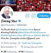 SALUTE!! JIMMY STAR... TV/RADIO HOST THX 4 THE SUPPORT  #YOUNGGIFTED3000