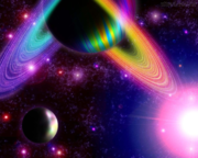 arco-íris no espaço